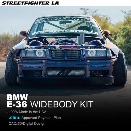 BMW E36 Base Wide Body Kit - STREETFIGHTER LA SFXLA-E36-2DR-BASEKIT