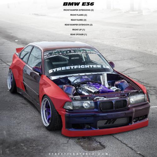 BMW E36 Wide Body Kit - STREETFIGHTER LA SFXLA-E36-2DR-BASEKIT