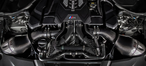 BMW Black Carbon Fiber Intake - Eventuri EVE-F90M5-V2-CF