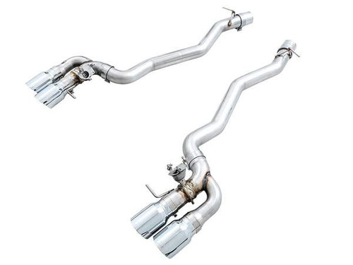 BMW Track Edition Axle Back Exhaust with Diamond Black Tips - AWE Tuning 3020-43077