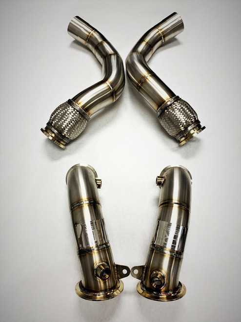 BMW Competition Series Catless Downpipes - Evolution Racewerks BM-EXH022