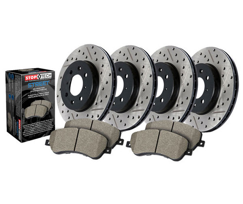 Front Left StopTech 127.34112L Sport Drilled//Slotted Brake Rotor 1 Pack