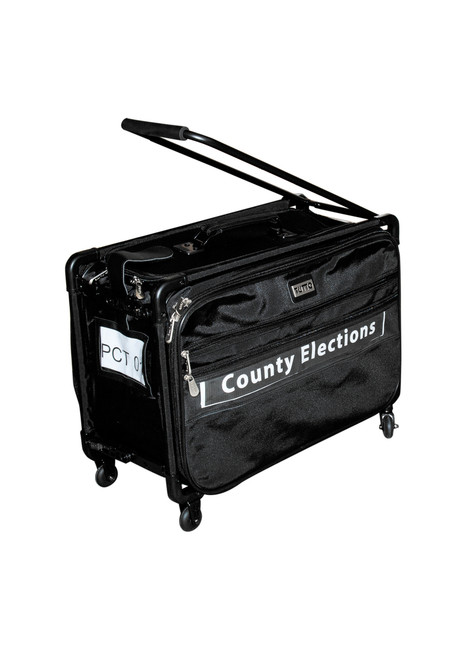 Ballot transport bag on 4 wheels.
