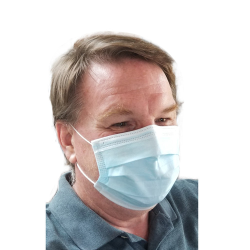 Disposable Face Masks Breathable 3 Ply Earloop , Box of 50