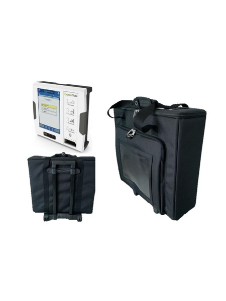 2-wheel collapsible Election Systems & Software (ES&S) secure trolley. Easy to carry Expressvote voting machine.