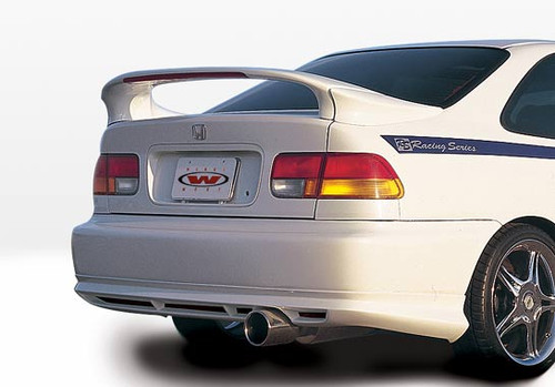 Wings West 591282-V26L 1996-2000 Honda Civic 2Dr Coupe Custom 3Pc Mid Wing With Light