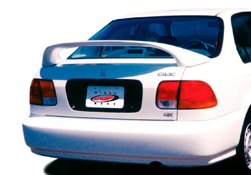 Wings West 591034 Fiberglass 1996-2000 Honda Civic 2Dr 7 inches Mid Wing No Light