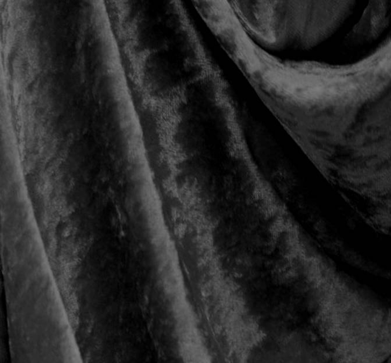 """PANNE VELVET CRUSHED BACKDROP VELOUR STRETCH FABRIC 60/"""" WIDE GREY 90 YARDS"""