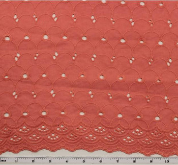 """Eyelet Embroidery Pink 5K004 Width 41/42"""""""