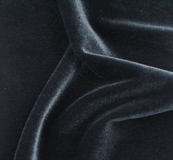 Stretch Velvet Solid Charcoal Gray Width 58/60""