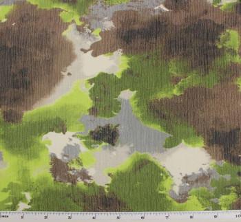"Yoryu Chiffon Brown/Olive D#1B718 Printed Width 58/60"""