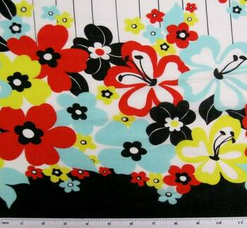 Cotton Lawn Print Red Print 7M355