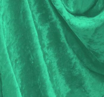 Crushed Panne Velour Mermaid Green