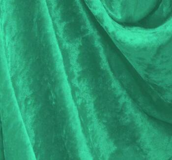 Crushed Panne Velour Mermaid Green
