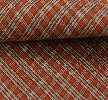 Stretch Plaid Orange/Brown