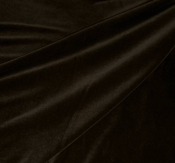 Steam Velour Dark Brown Width 58/60""