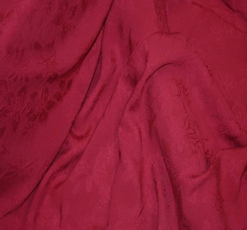 "Rayon Floral Jacquard 1D353 Burgundy Width 53/54"""