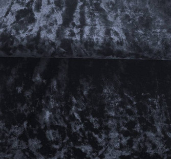 """Stretch Velvet Crushed Black Width 58/60"""""""