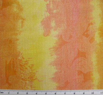 "Linea Fabric Orange/Yellow Width 58/60"""