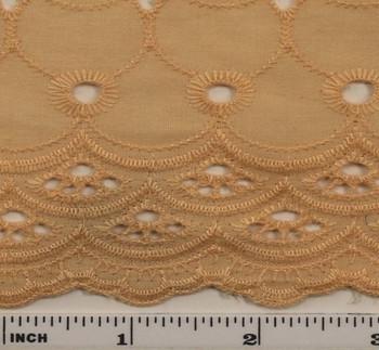 "Eyelet Embroidery Melon 5K004 Width 41/42"""