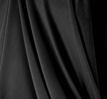 Stretch Velvet Solid Black (90/10)