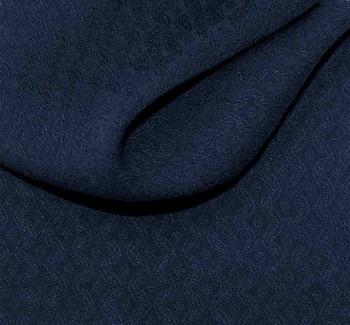 "Rayon Jacquard 1D352 Diamond Midnight Blue Width 53/54"""