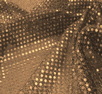 3MM Sequins on A/Knit Black/Gold