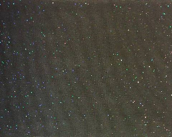 Tricot Solid Black with Glitter (AKA Tulle) Width 58/60""