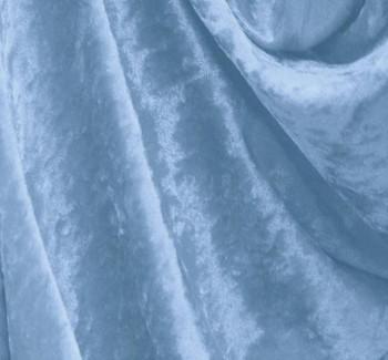 Crushed Panne Velour Adriatic Blue