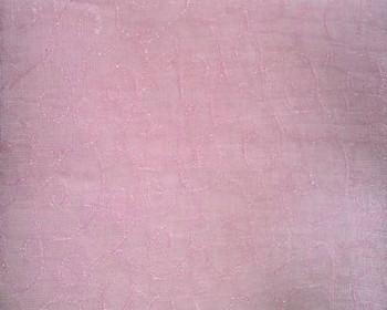 """Organza Jacquard D#G05016 Swirl Pink  Width 57/58"""""""