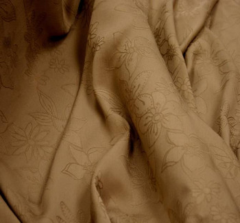 "Rayon Floral Jacquard 1D353 Khaki Width 53/54"""