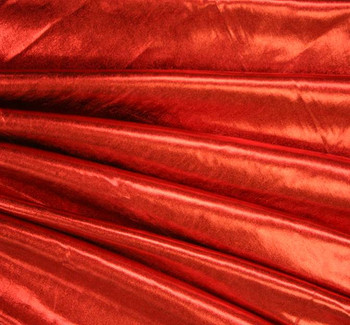 Spandex w/All Over Foil Solid Red