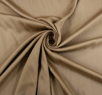 Rayon Satin Stretch Solid Khaki
