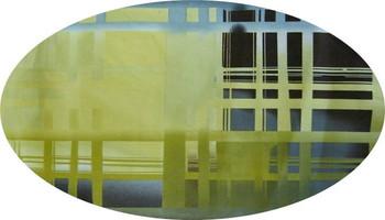 "Stretch Satin Printed Green/Blue Width 56"""