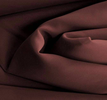 Double Georgette Solid Eggplant Width 58/60""