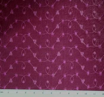 "Stretch Velvet Embroidery 3J275 Plum Dazzle Width 58/60"""