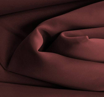 Double Georgette Solid Cabernet Width 58/60""