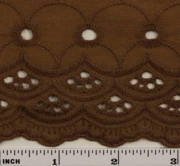 "Eyelet Embroidery Brown 5K004 Width 41/42"""