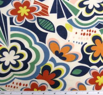Cotton Voile Print Multicolor Print 7M097
