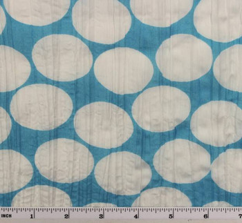 """Crinkled Voile  Dot Print  Blue/White D#1D288 Width 48/50"""""""