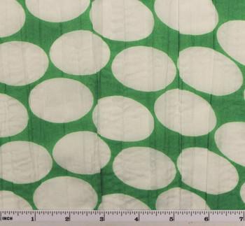 """Crinkled Voile Dot Print Green/White D#1D288 Width 48/50"""""""