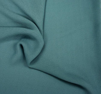 Crepe Caterina Teal  Width 58/60""