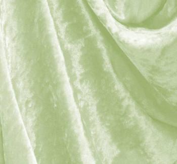 Crushed Panne Velour Seafoam Green