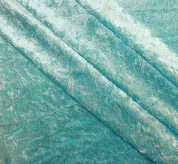 Crushed Panne Velour Turquoise