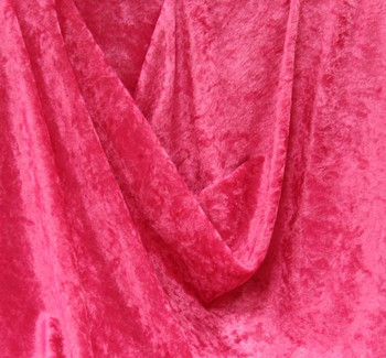 Crushed Panne Velour Fuschia