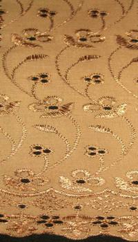 "Eyelet Embroidery Brown 5K005 Width 41/42"""