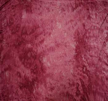 Tie Dye Crushed Velour Burgundy