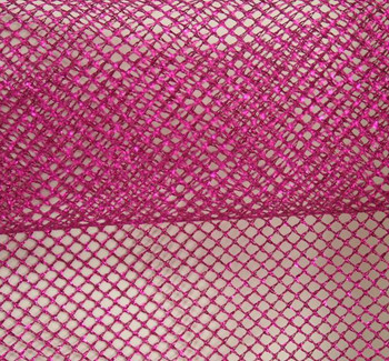 Chain Net with Foil Fuschia