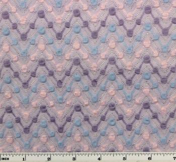 "Bubble Knit w/Lurex Lilac/Blue/Pink D#4706 Width 42/44"""