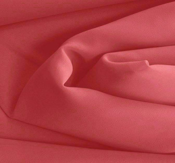 Double Georgette Solid Cerise Width 58/60""
